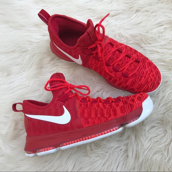 buy popular fa24a c0ab8 Nike KD 9 'Zoom' Basketball Sneakers EUC Red 10.5